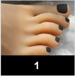 Poupée en silicone - Ongle Noir