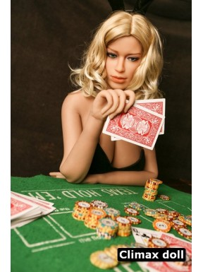 La joueuse de poker - Moulage TPE - Ada - 175cm