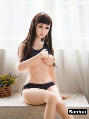 Love doll Sanhui en silicone Platinum - Justine - 156cm