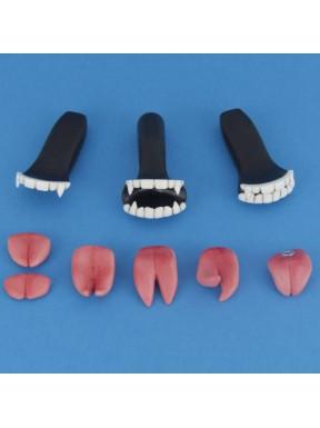 Dents et langue de vampire (Résine)
