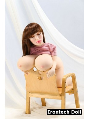Mini sex doll TPE Poitrine géante - Aurora - 100cm