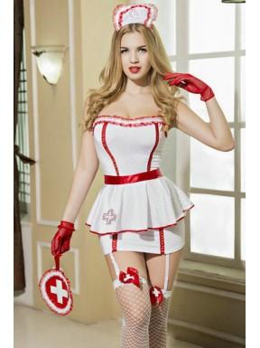 Tenue sexy d'infirmière 8 pièces