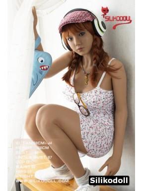 Siliko Doll rousse avec des tresses - Aude - 158cm D-CUP