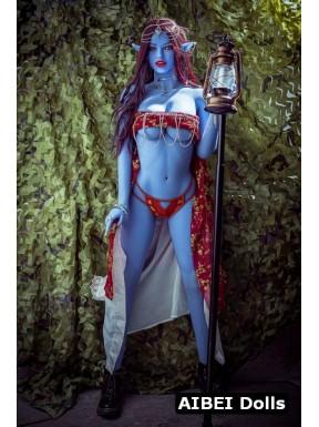 Elfe Sex Doll à la peau bleue - Eledhwen - 158cm