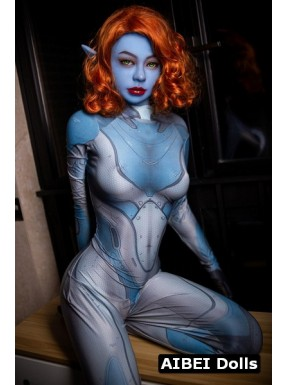 Fantasy Doll elfique à la peau bleue - Kementari - 165cm