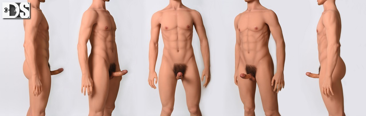 Corps male doll silicone - Homme - Sexe en érection